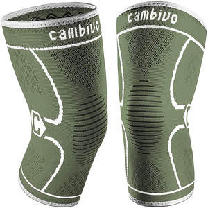 CAMBIVO 2 Pack Knee Brace for Men and Women